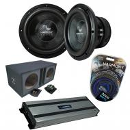 "Harmony Audio HA-C152 Competition Dual 15"" Sub Bundle with Ported Sub Box Kicker Harmony HA-..."