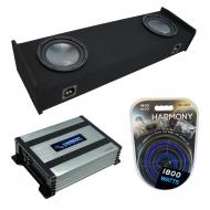 """Compatible with 1997-1999 Ford F-150 Super Ext Cab Truck Harmony R104 Dual 10"""" Sub Box &..."""