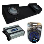 """Compatible with 1999-2006 Chevy Silverado Extended Cab Truck Harmony R104 Dual 10"""" Sub Box &..."""