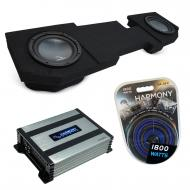 """Compatible with 2002-2018 Dodge Ram Quad or Crew Truck Harmony R124 Dual 12"""" Sub Box & H..."""