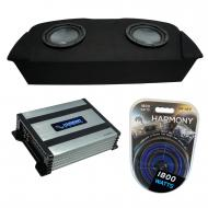 """Compatible with 2003-2008 Nissan 350Z Coupe Hatch Fit Harmony R104 Dual 10"""" Sub Box & Ha..."""