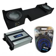 """Compatible with 2004-2008 Ford F-150 Extended / Super Cab Truck Harmony R104 Dual 10"""" Sub Bo..."""