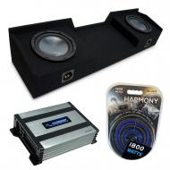 "Compatible with 2004-2015 Nissan Titan King or Crew Truck Harmony R104 Dual 10"" Sub Box &..."