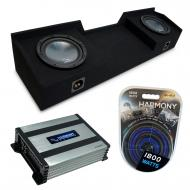 """Compatible with 2004-2015 Nissan Titan King or Crew Truck Harmony R124 Dual 12"""" Sub Box &..."""