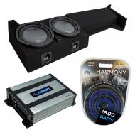 """Compatible with 2005-UP Nissan Frontier Crew Cab Truck Harmony R104 Dual 10"""" Sub Box & H..."""
