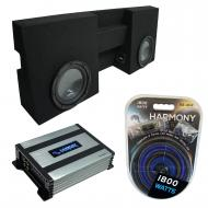 """Compatible with 2005-UP Toyota Tacoma Double Cab Truck Harmony R104 Dual 10"""" Sub Box & H..."""