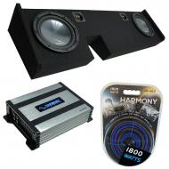 """Compatible with 2009-2014 Ford F-150 Extended / Super Cab Truck Harmony R104 Dual 10"""" Sub Bo..."""