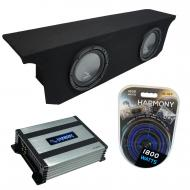 """Compatible with 2007-2017 Jeep Wrangler JK Unlimited Harmony R104 Dual 10"""" Sub Box & Har..."""