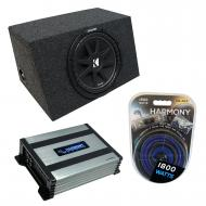 "Universal Car Stereo Hatchback Sealed Single 10"" Kicker Comp C10 Sub Box Enclosure & Har..."