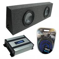 """Harmony Audio Compatible with Universal Regular Standard Cab Truck HA-R104 Dual 10"""" Loaded S..."""