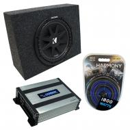 "Universal Regular Standard Cab Truck Kicker Comp C10 Single 10"" Sub Box Enclosure & Harm..."