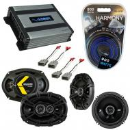 "KICKER Bundle Compatible With 1996-1998 Acura TL 43DSC6504 6.5"" 50W Speaker With HA-A400.4 8..."