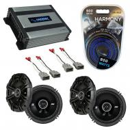 "KICKER Bundle Compatible With 1999-2003 Acura TL 43DSC6504 6.5"" 50W Speaker With HA-A400.4 8..."