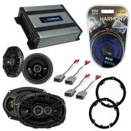 "KICKER Bundle Compatible With 2009-2014 Acura TL 43DSC6504 6.5"" 50W Speaker With HA-A400.4 8..."