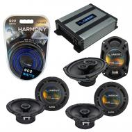 Compatible with Acura TSX 2004-2014 Factory Speaker Replacement Harmony (2)R65 R69 & Harmony ...