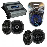 Compatible with Cadillac SRX 2007-2009 Factory Speaker Replacement Kicker (2)DSC65 & Harmony ...