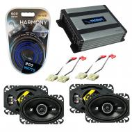 Compatible with Chevy CK Truck (Full Size) 88-94 Speaker Replacement Kicker (2)DSC46 & Harmon...