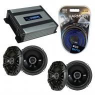 Compatible with Chevy Uplander 2005-2008 Factory Speaker Replacement Kicker (2) DSC65 & Harmo...