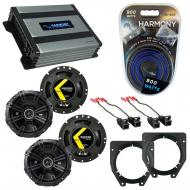 Compatible with Chevy Van (Full Size) Express 96-02 Speaker Replacement Kicker(2)DSC67 & Harm...