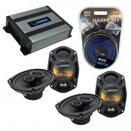 Compatible with Chrysler Sebring 2007-2010 OEM Speaker Replacement Harmony (2) R69 & Harmony ...