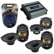 Compatible with Chrysler Town & Country 08-15 OEM Speaker Replacement Harmony Speakers & ...