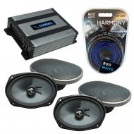 Compatible with Dodge Charger 2005-2010 Factory Speakers Replacement Harmony (2) C69 & Harmon...