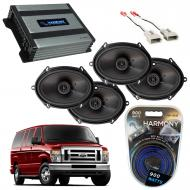 Compatible with Ford Econoline 2014-2018 Factory Speaker Replacement Package Harmony R68 Harmony ...