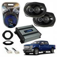 Compatible with Ford F-250 F-350 F-450 2017-2018 Factory Speaker Replacement Package R69 Harmony ...