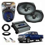 Compatible with Ford F-250 F-350 F-450 2017-2018 Premium Speaker Replacement Package C69 Harmony ...