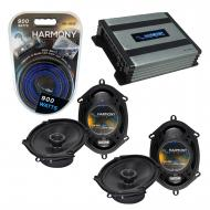 Compatible with Ford Five Hundred 2005-2007 OEM Speaker Replacement Harmony (2) R68 & Harmony...