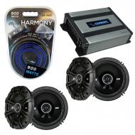 Compatible with Honda Fit 2007-2008 Factory Speaker Replacement Kicker (2) DSC65 & Harmony HA...