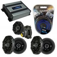 Compatible with Hummer H2 2008-2009 Factory Speaker Replacement Kicker (2) DSC65 DSC4 & Harmo...