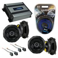 Compatible with Hyundai Accent 1995-1999 Speaker Replacement Kicker (2) DSC5 & Harmony HA-A40...
