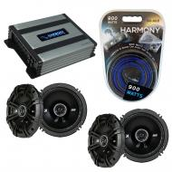 Compatible with Infiniti I30 1996-2008 Speaker Replacement Kicker (2) DSC65 & Harmony HA-A400...