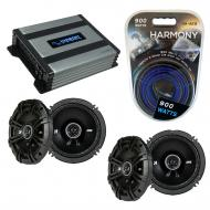 Compatible with Infiniti I35 2002-2004 Speaker Replacement Kicker (2) DSC65 & Harmony HA-A400...