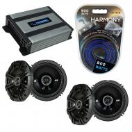 Compatible with Infiniti M45 2004-2005 Speaker Replacement Kicker (2) DSC65 & Harmony HA-A400...