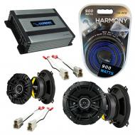 Compatible with Isuzu I-Mark: S/XS/RS/LS 85-91 Speaker Replacement Kicker DS Coax & Harmony H...