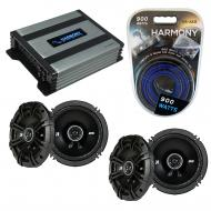 Compatible with Jaguar X-Type 2001-2008 Speaker Replacement Kicker (2) DSC65 & Harmony HA-A40...