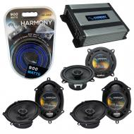 Compatible with Jaguar S-type 2000-2008 OEM Speaker Replacement Harmony (2) R68 R5 & Harmony ...