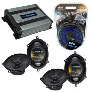 Compatible with Lincoln Blackwood 01-03 OEM Speaker Replacement Harmony (2) R68 & Harmony HA-...