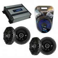 Compatible with Mazda MPV Van 1996-1999 Speaker Replacement Kicker (2) DSC65 & Harmony HA-A40...
