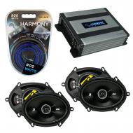 Compatible with Mazda RX8 2004-2008 Factory Speaker Replacement Kicker (2) DSC68 & Harmony HA...