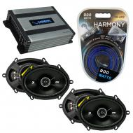 Compatible with Mercury Cougar 1990-2002 Speaker Replacement Kicker (2) DSC68 & Harmony HA-A4...