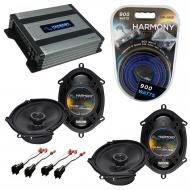 Compatible with Mercury Mountaineer 06-10 OEM Speaker Replacement Harmony (2) R68 & Harmony H...