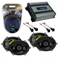Compatible with Mercury Sable 2008-2009 Speaker Replacement Kicker (2) DSC68 & Harmony HA-A40...