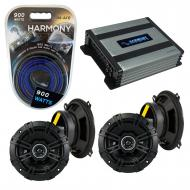 Compatible with Mercury Tracer 1991-1996 Speaker Replacement Kicker (2) DSC5 & Harmony HA-A40...