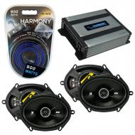 Compatible with Mercury Villager 96-02 Speaker Replacement Kicker (2) DSC68 & Harmony HA-A400...