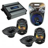 Compatible with Mitsubishi Eclipse 06-12 OEM Speaker Replacement Harmony (2) R69 & Harmony HA...