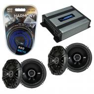 Compatible with Mitsubishi Endeavor 04-11 Speaker Replacement Kicker (2) DSC65 & Harmony HA-A...