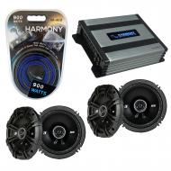 Compatible with Mitsubishi Outlander 03-06 Speaker Replacement Kicker (2) DSC65 & Harmony HA-...